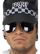 Police Aviator Specs Silver Mirrored Lenses